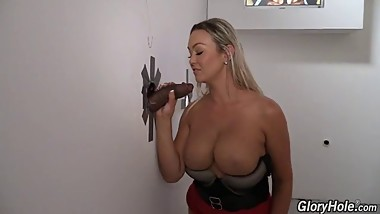 MOM Abbey with gigantic tits takes anonymous black cock