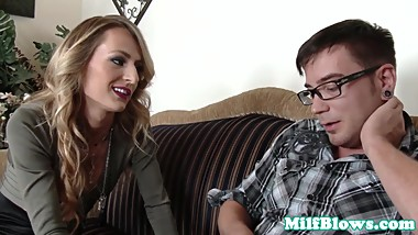 Cocksucking milf doggystyle fucked