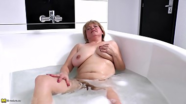 Mature chubby mom needs a good fuck