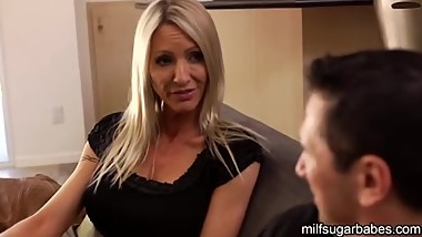 MILF Emma Starr spreads pussy for cock