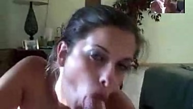 Great tits and an amazing body getting covered in cum after an bj