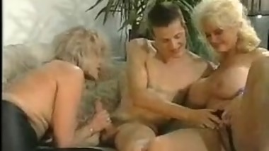 two sluts matures and young man