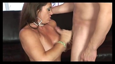 Chubby MILF gets fucked on the couch