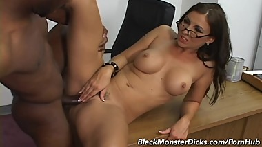 MILF Maria Bellucci gets her Hairy Pussy and Anal Fucked by Black Cock