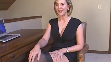 Blonde Milf At Desk