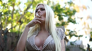 Smoking Blonde Riley