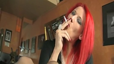 Dildo Slut Smoking..