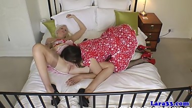 Mature british ponstar shares husband with horny babe