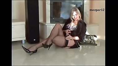 Nylons stockings and high heels