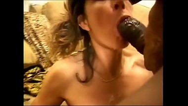 Mr 18 inch (Tony Duncan) - his load overflows her grateful mouth