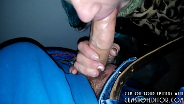 Submissive MILF Talking On The Phone While Serving Cock POV
