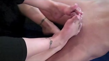 Double Yoga Footjob
