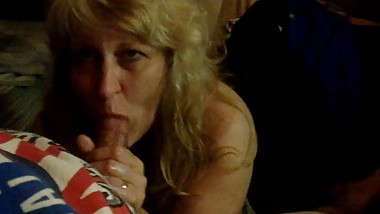 Queenmilf Great BJ with a mouth full of cum 3-25-14