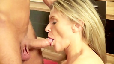 Hot blowjob by my stepmom!
