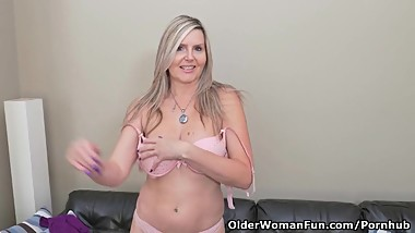 Gorgeous Blonde Milf on her Own
