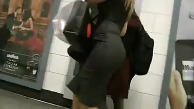 Guy Follows And Records MILF's Big Ass In Tight Dress