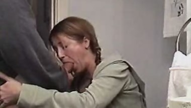 sexy mom sucking big cock and swallowing