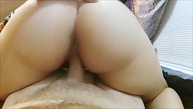 Step Sister Rides Me With Her Big Ass While Her Husband & My Step Mom Gone!