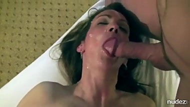 Hotwife hammered and spunked by husband and lover