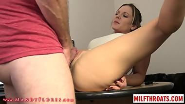 Fat mom blowjob and creampie