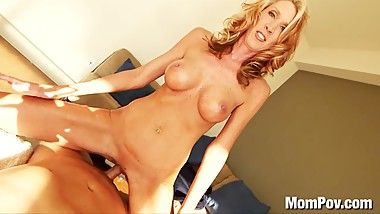 Hot blonde MILF fun POV