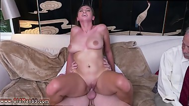 Old young squirt and ebony mom blowjob Ivy impresses with her big boobies