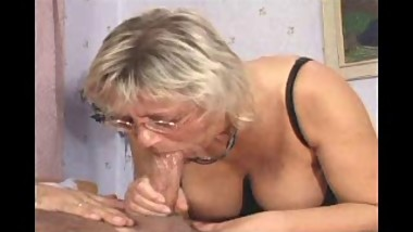 TEEN AND MATURE blonde mom with big tits