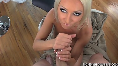 European MILF Diana Doll eagerly giving a blow job